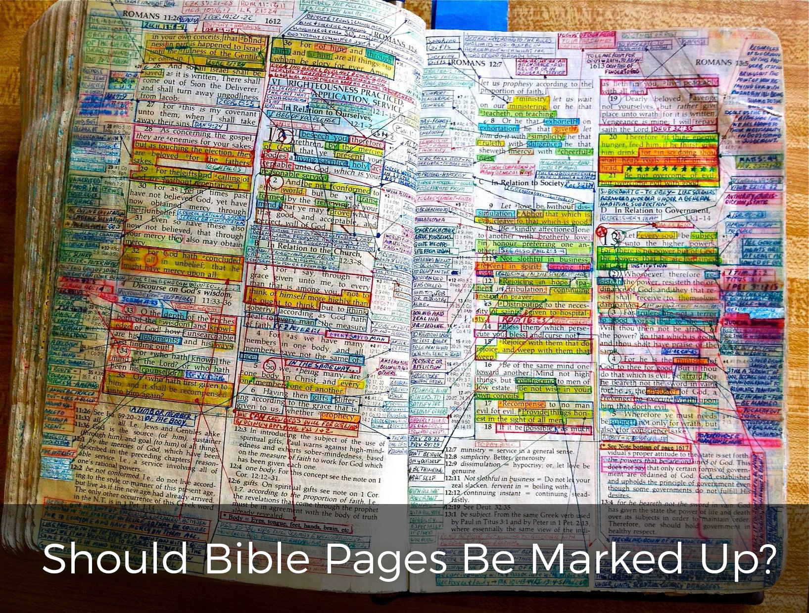 should-bible-pages-be-marked-up