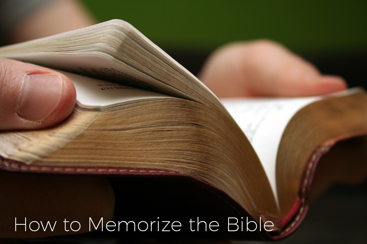 ways how to memorize bible verses